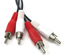 Audio Patch Cable RCA Male/Male X 2 - 6ft