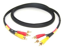 Audio/Video Dubbing RCA Male/Male X 3 - 6ft