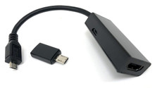 MHL Micro USB to HDMI Adapter with 5 to 11 Pin Conversion Tip