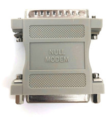 Null Modem Adapter DB25 Male to DB25 Female