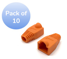 SNAGLESS CABLE BOOT CAT6 ORANGE -10 PACK