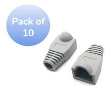 SNAGLESS CABLE BOOT CAT6 GRAY-10 PACK