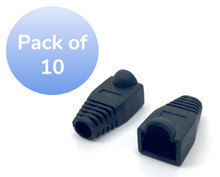 SNAGLESS CABLE BOOT CAT6 BLACK - 10 PACK