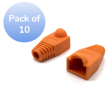SNAGLESS CABLE BOOT CAT5 ORANGE -10 PACK
