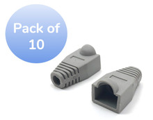 SNAGLESS CABLE BOOT CAT5 GRAY-10 PACK