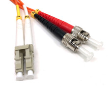 LC / ST Multimode Duplex 62.5/125 Fiber Optic Cable - 3 Meter