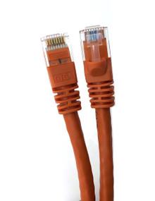 Category 6 UTP RJ45 Patch Cable Orange - 25 ft