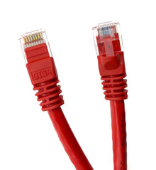 Category 6 UTP RJ45 Patch Cable Red - 3ft