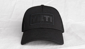 Black on Black Patch Trucker Hat