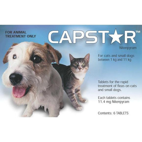 Capstar Flea Treatment Tablets for Small Dogs & Cats up to 25 lbs - 6 Tablets