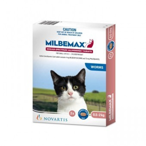Milbemax Small Cats Up to 4 lbs 2 Tab Pack