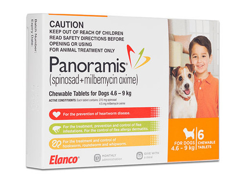 Comfortis Plus (Panoramis) for Dogs 10.1-20 lbs - Orange 6 Pack