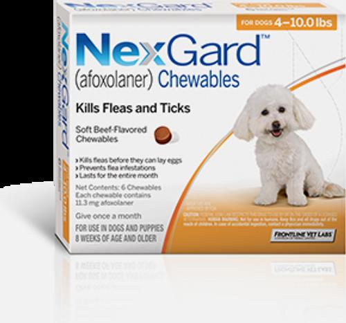 Nexgard for Dogs 4-10 lbs - 6 Pack
