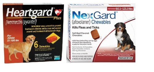 NexGard and Heartgard Combo for Dogs 60.1-100 lbs - 6 Pack