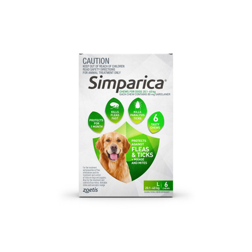 Simparica For Large Dogs 44-88lbs (20.1- 40kg) - 6 Chews