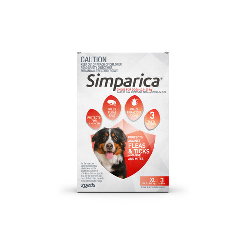 Simparica For Extra Large Dogs 88-132lbs (40.1- 60kg) - 6 Chews