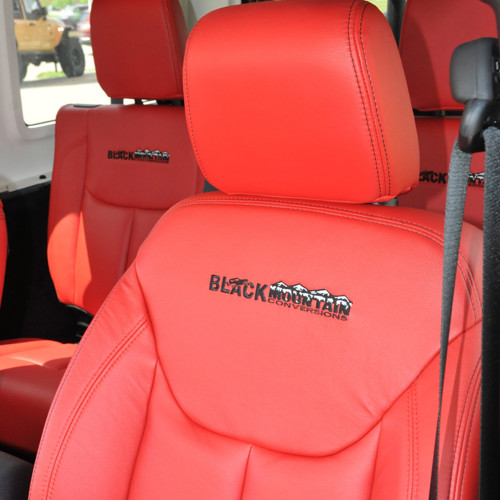 Leather Seat Covers - Red