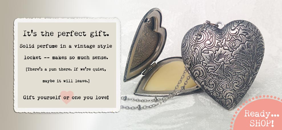 Solid Perfume Heart Locket makes the best gift!