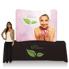 6 Ft. EZ Tube Display - Tabletop Curve Single-Sided Graphic Package