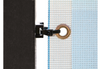 clips are tied through the grommets of your banner