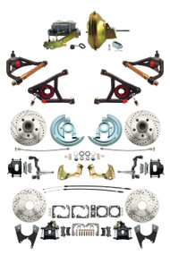 """Details about  GM 1967-72 A-Body Front & Rear Black Disc Brake, 11"""" Power & Control Arm Package"""