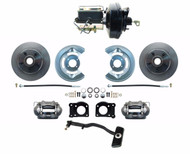 DBK6469-FD-256 - 1967-69 Ford Mustang OE Style Power Disc Brake Conversion Kit, Autos Only