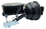 "GMFS1-401 - 1955-1958 GM Full Size ( Impala, Bel Air) Black Out Series 8""Dual Pwr Booster & tandem Oval Master Kit"