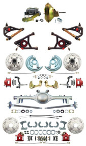 """GM 1967-72 A-Body Front & Rear Disc Brakes 11"""" Power & Control Arm Package Currie 9"""" Rear End"""