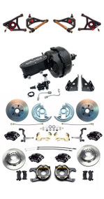 """1967-1969 Camaro Wilwood Front & Rear Caliper Kit Control Arms & 9"""" Booster Kit"""