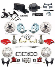 "Front & Rear 2"" Drop Power Disc Brake Conversion Kit Featuring Wilwood Package Components"