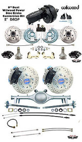 """64-66 GM A Body Chevelle Currie 9"""" Rear End Front & Rear Disc Brake Kit Wilwood"""