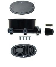 """Black Tandem Oval Master Cylinder with 1"""" Bore"""