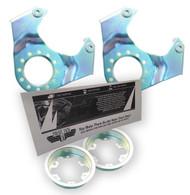 Set-of-Drum-to-Disc-Brake-Conversion-Caliper-Brackets-for-73-91-Jeep  Set-of-Drum-to-Disc-Brake-Conversion-Caliper-Brackets-for-73-91-Jeep