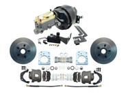 """1957-1971 Mopar 8"""" Power Brake Booster & Disc Brake Kit for D100 Dodge Trucks"""