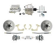 "DBK5558-GMFS1-308 1955-1958 Chevy Impala, Bel-Air Biscayne  Size 8"" Dual Chrome Power Brake Booster Conversion Kit"