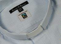 "Men's Fair Trade Clerical shirt 1"" Slip In Collar Regular Fit"