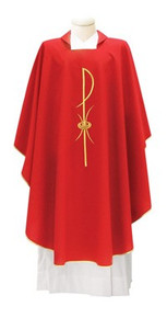 Chasuble Italian style in Primavera material available in  4 liturgical colours