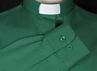 Mens Long Sleeved Polycotton Slip-in and Collar Attached Clerical Shirts
