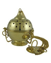 "Silver plated Thurible (4"" diameter) silver plated"