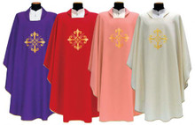 Chasubles in 5 colours made in Italy
