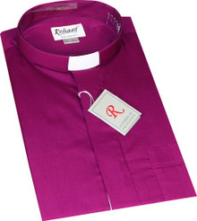 Mens Short Sleeved Polycotton Clerical Shirt