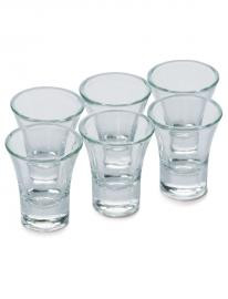 Glass cups in packs of 12.