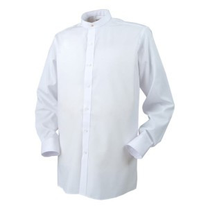 """The Reliant 'Neckband' Collar shirt is suitable for use with our Full """"vicar"""" collar (see accessories). The vicar collar can be attached using our range of collar studs also in our accessories section."""