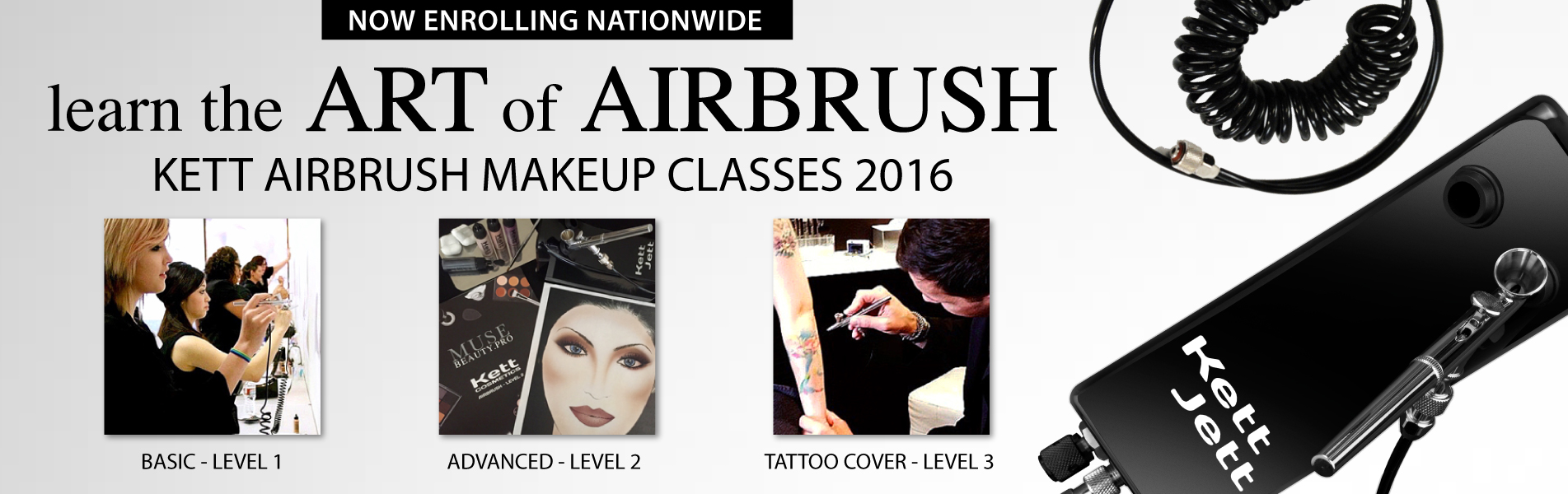 KETT Airbrush Makeup Classes