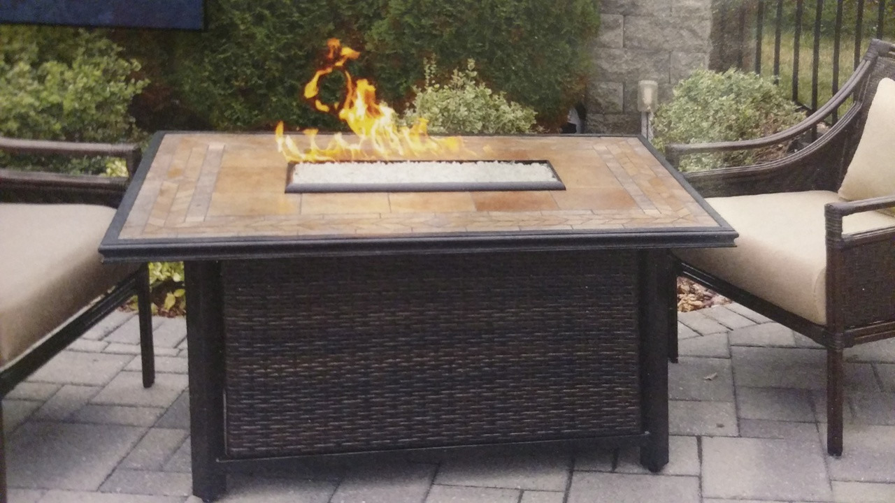 Calumet Rectangular Gas Fire Table