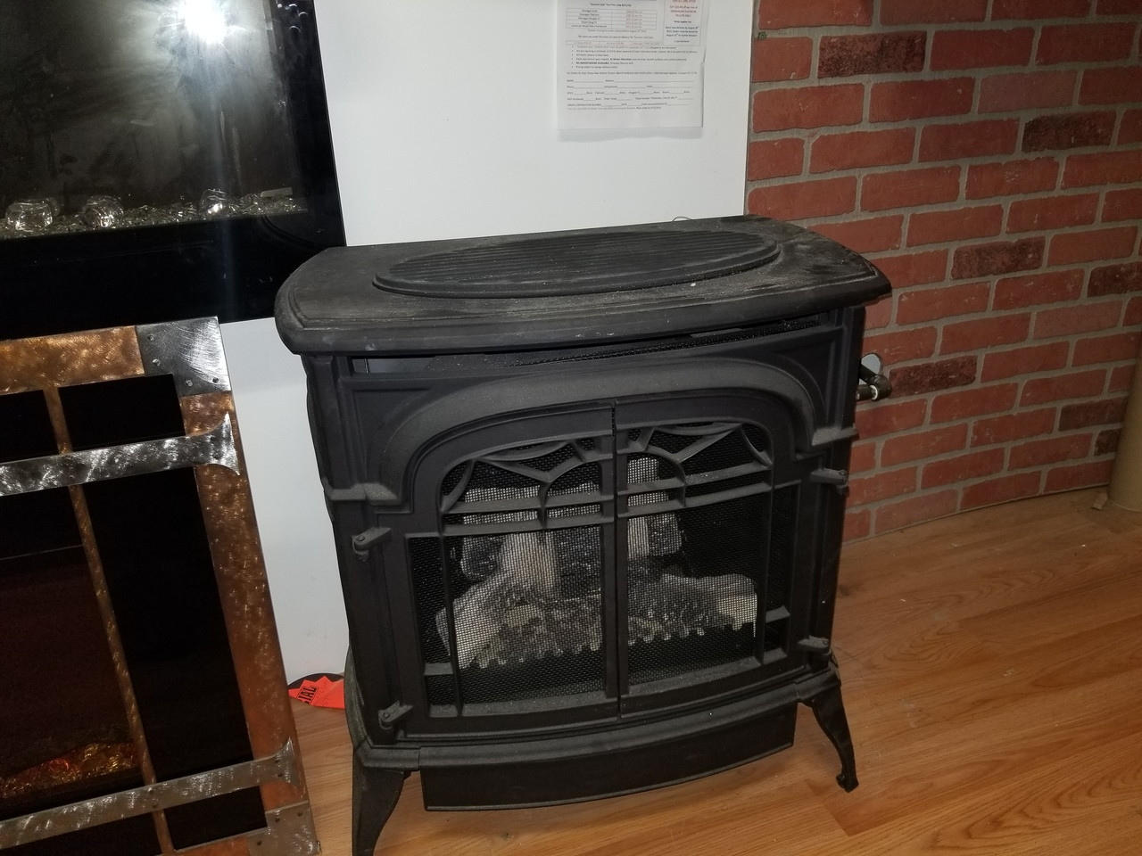 vermont castngs stardance vent free gas stove propane floor model