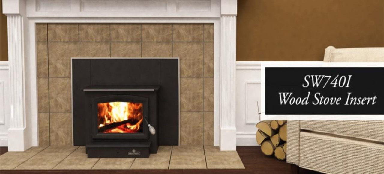 breckwell sw 740i wood burning fireplace insert complete sale price