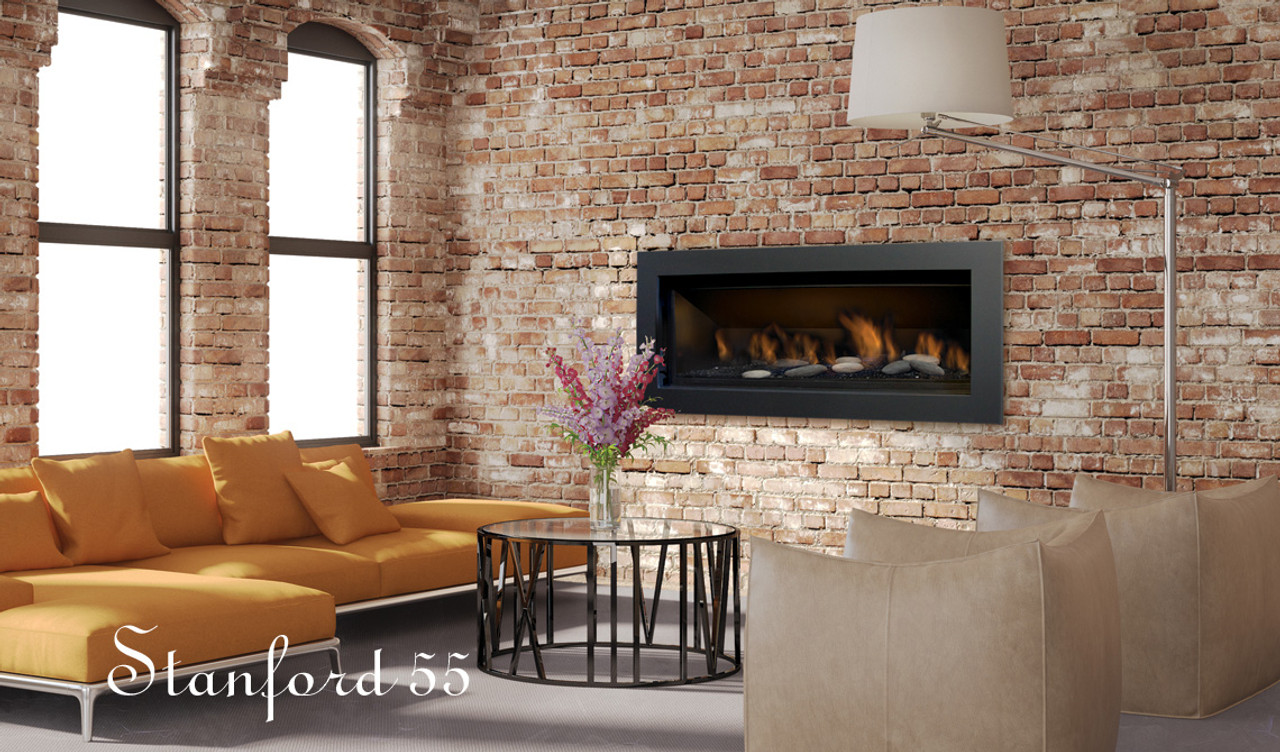 Gas Fireplace linear gas fireplace : SIERRA FLAME STANFORD-55G-NG-DELUXE 55