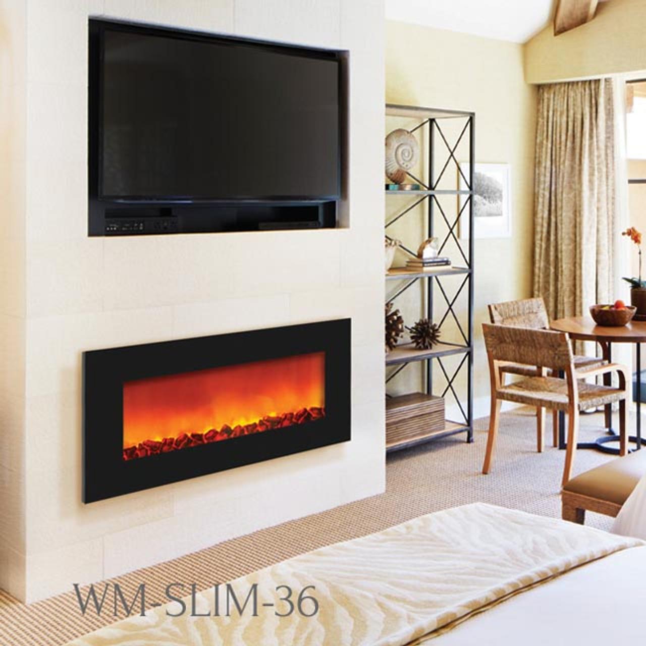 SIERRA FLAME WM-SLIM-36 SLIM WALL MOUNT ELECTRIC FIREPLACE