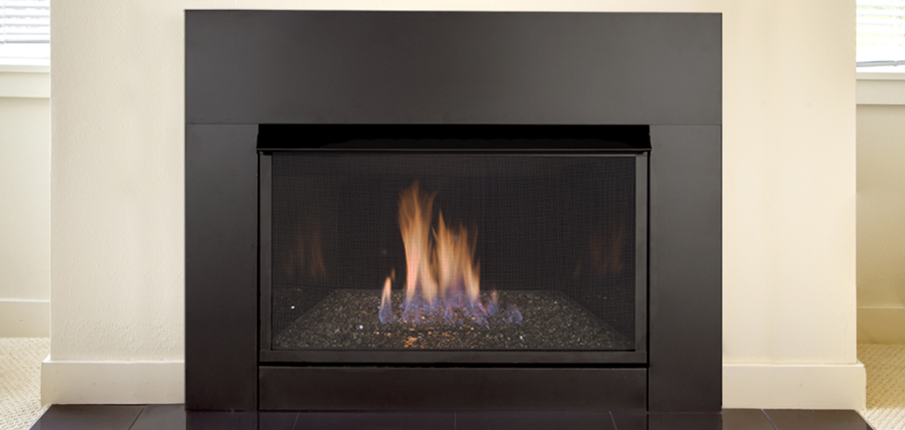 Monessen solstice contemporary vent free gas fireplace insert for Contemporary fireplace insert
